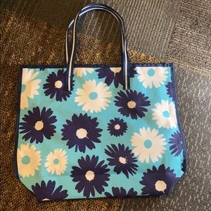 NWOT Blue and White Tote